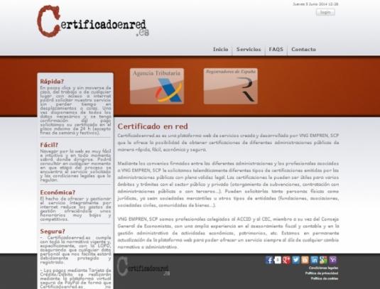 Certificado en red