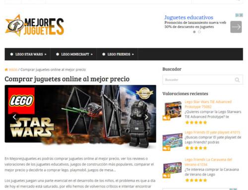 Diseño web de página de afiliados y reviews – MejoresJuguetes.es