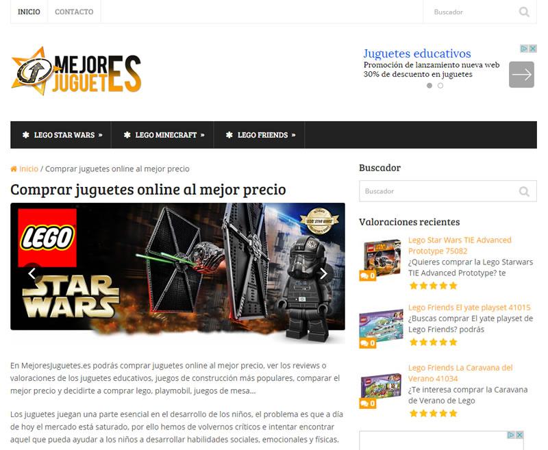 Diseño web de página de afiliados y reviews