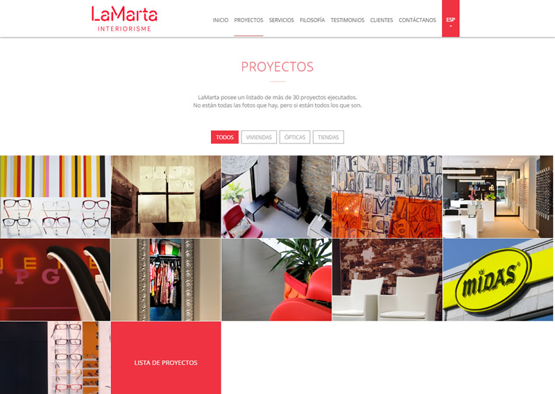 Optimización web para SEO LaMarta.cat