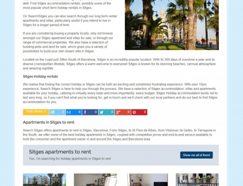 Diseño web de inmobiliaria – SearchSitges.co.uk