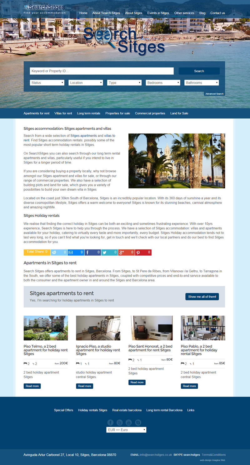 Diseño web de inmobiliaria – SearchSitges.co.uk