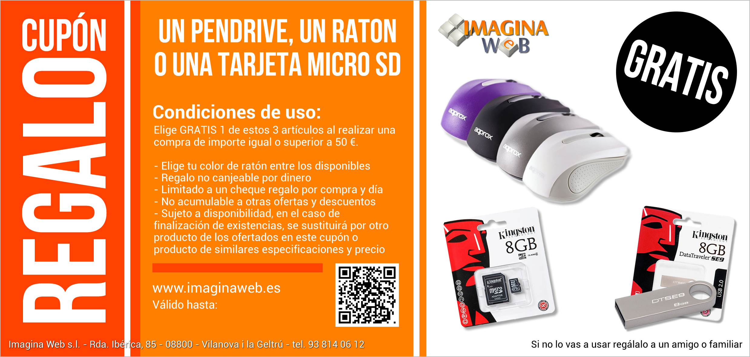 Regalo productos informaticos